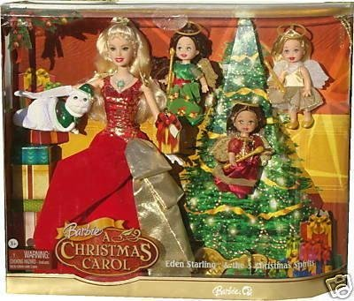 barbie a christmas carol eden starling the 3 christmas spirits holiday barbie collector set by - Barbie Christmas Carol