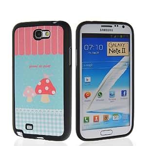 HKCFCASE Carcasa de TPU Gel Caso Funda silicona Case Para Samsung Galaxy Note 2 ii N7100 40