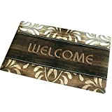 Christmas Rubber Front Door Welcome Mat Inside Carpet Entry Way No Slip Floor Mats for Home Décor Entryway Rug Doormat Indoor Inside Entryway Rugs Entrance Outside Low Profile Outdoor Mat for Patio