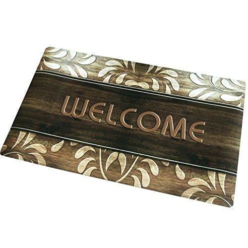 Rubber welcome door mat for front door entry way no slip for Welcome home front door mats
