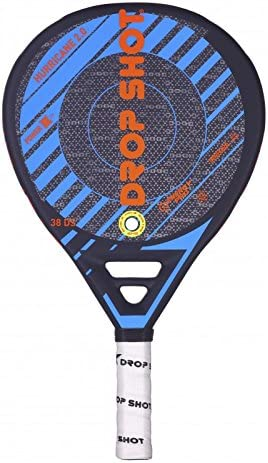 DROP SHOT Hurricane 2.0 Pala Pádel, Unisex Adulto, Negro, 360-385 ...