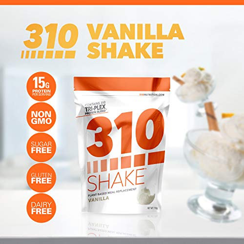 Vanilla Meal Replacement | 310 Shake Protein Powder is Gluten and Dairy Free, Soy Protein and Sugar Free | Includes Free Recipe eBook | 28 Servings