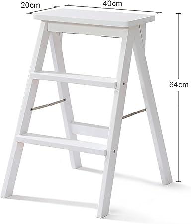 SGMYMX Escalera Banco de 2 Pasos - Madera - diseño Plegable fácil de Guardar - Adecuado para el hogar/Cocina/Garaje Escalera (Color : C): Amazon.es: Hogar