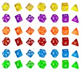 Roller Dice 6 x 7-Die Series, 6 Different Colors, 7 Dice of Each Color Dungeons and Dragons or other RPG Game