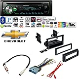 Pioneer 1DIN CAR MP3 CD Stereo W/USB AUX-in Bluetooth & Pandora+ W/Car Radio Stereo Dash Kit Harness Antenna for GM GMC Chevy Cadillac Pontiac
