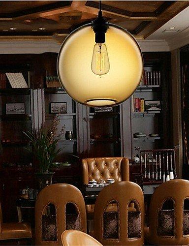 Retro única cabeza creativa Lámpara Colgante Cristal Bar Bar Bar Cafetería restaurante en la pecera , blanco cálido-220-240v: Amazon.es: Iluminación