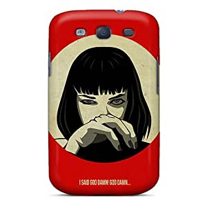 CristinaKlengenberg Samsung Galaxy S3 Shock Absorption Cell-phone Hard Cover Support Personal Customs Realistic Pulp Fiction Pictures [OMA9541bhBX]