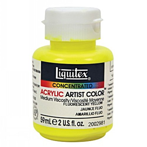 Liquitex 2002981 Professional Soft Body Acrylic Paint 2-oz jar, Fluorescent Yellow ()