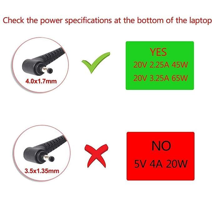 AC Charger Fit for Lenovo Yoga 530: 530-14IKB 530-14ARR Yoga 510: 510-14ISK 510-15ISK 510-14AST 510-14IKB 510-15IKB Yoga 310: 310 310-11IAP Laptop ...