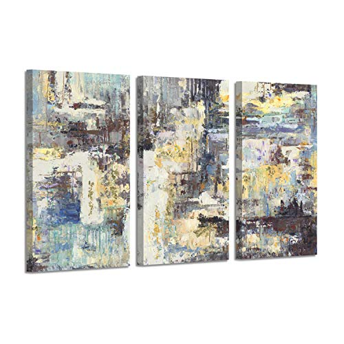 - Abstract Pictures Canvas Wall Art: Dashes Graphic Artwork for Wall Decor (26