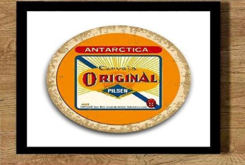 Quadro com moldura 21x30cm Cerveja Original logotipo