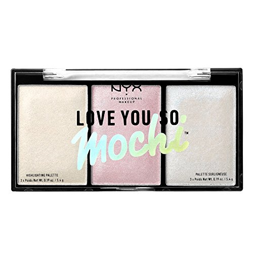 NYX PROFESSIONAL MAKEUP Love You so Mochi Highlighting Palette, Arcade Glam, 0.569 Ounce