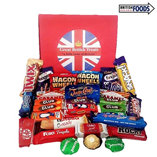 British Chocolate Covered Biscuits (2.2 Pounds) 1kg Gift Box - Including Favourites such as Kit Kat, Twix, Club, Jaffa Cakes, Cadbury Mini Fingers for $<!--$32.99-->