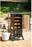 Snow Shop Everything Smoker Masterbuilt Pro 15,400 BTU Propane Fuel Stainless Steel Burner 4 Racks