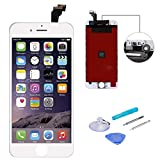 WEELPOWER White LCD Display Replacement Screen Digitizer Touch Screen Assembly for iPhone 6 with Repair Tool(White)