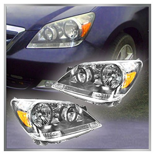 Headlights Headlamps Left & Right Pair Set for 05-07 Honda Odyssey (Honda Odyssey Headlamp)