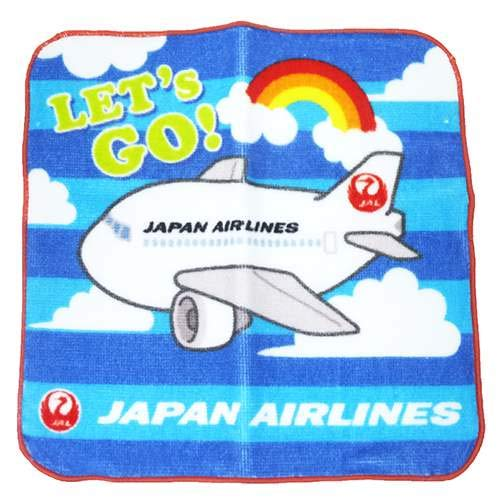 JAL Japan Airlines Towel Handkerchief/Beautiful Sky