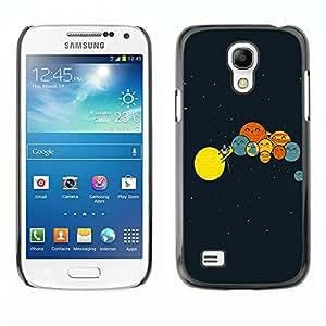 Be Good Phone Accessory // Dura Cáscara cubierta Protectora Caso Carcasa Funda de Protección para Samsung Galaxy S4 Mini i9190 MINI VERSION! // Solar System Art Drawing Kids Planets