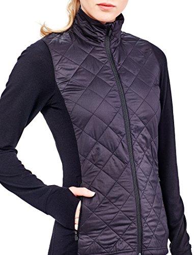 Icebreaker chaqueta de las mujeres de la elipse Cover Ups negro