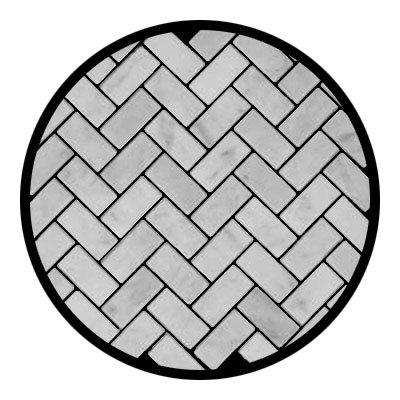 Carrara Marble Italian White Bianco Carrera Herringbone Mosaic Tile Tumbled