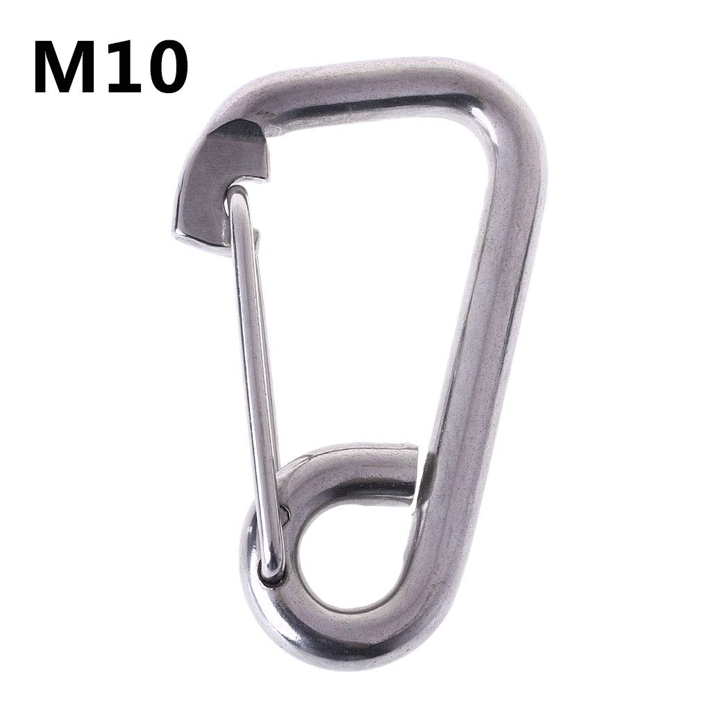 JERKKY Snap Hook Carabiner Fast Hang Pet Chain Buckle Keychain Simple 304 Acero Inoxidable M10