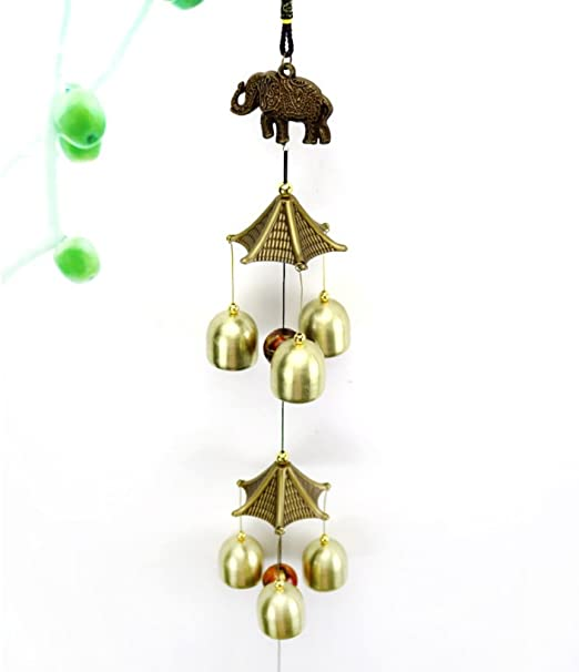Copper Alloy Ornament Antique Gift Wind Chimes Indoor Hanging Decoration Outdoor