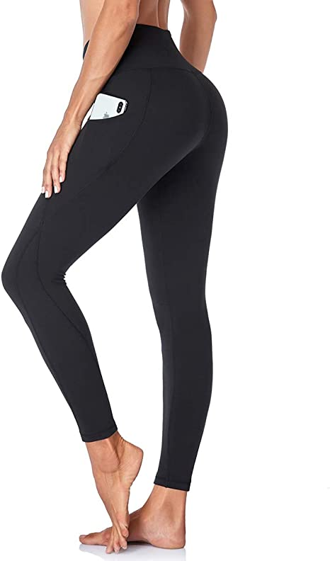 Cycling HIGHDAYS High Waist Yoga Pants for Women with Pockets Capri Leggings for Workout Running