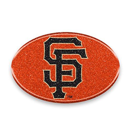 """MLB San Francisco Giants Color Bling Emblem, 4"""" x 4"""", Orange"""
