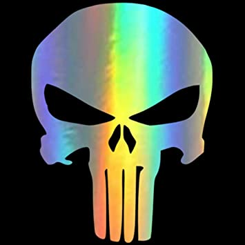 Skull Middle Finger Car Bumper Truck Motorcycle Sticker Funny Removable Decal