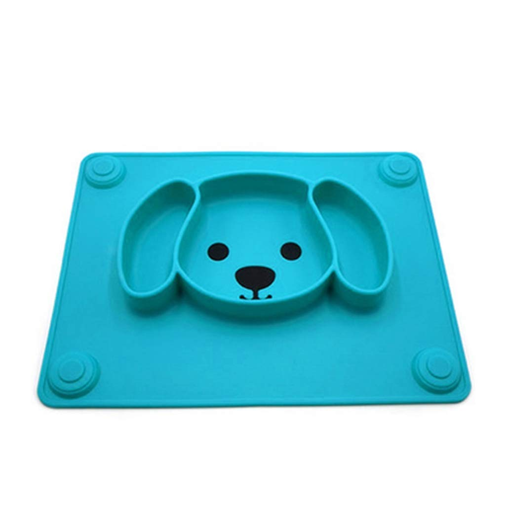 Baby Plate Tableware Children Food Feeding Container Placemat Baby Dishes Infant Feeding Silicone Suction Bowl for Kids