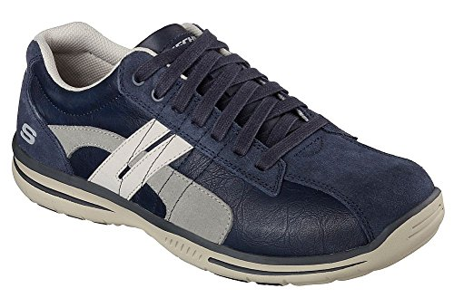Skechers Hombres Relaxed Fit Elegido - Gavino Navy Leather