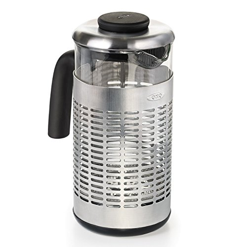 - OXO Good Grips Revive French Press with Stainless Steel Case and Glass Carafe, 32 Ounce (8 Cups)