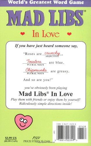 Mad Libs In Love Roger Price Leonard Stern 9780843176285 Amazon