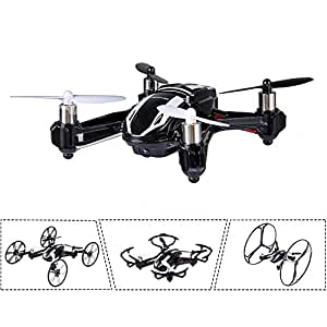 DBPOWER Hawkeye-I Quadcopter 3D Flip 2.4GHz Transformable RC Drone/Car with 2MP HD Camera