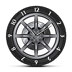 Car Service Repair Garage Owner Tire Wheel Custom Car Auto Wall Clock Watch Vintage Cool Mechanic Gift Ideal for Car Workshop