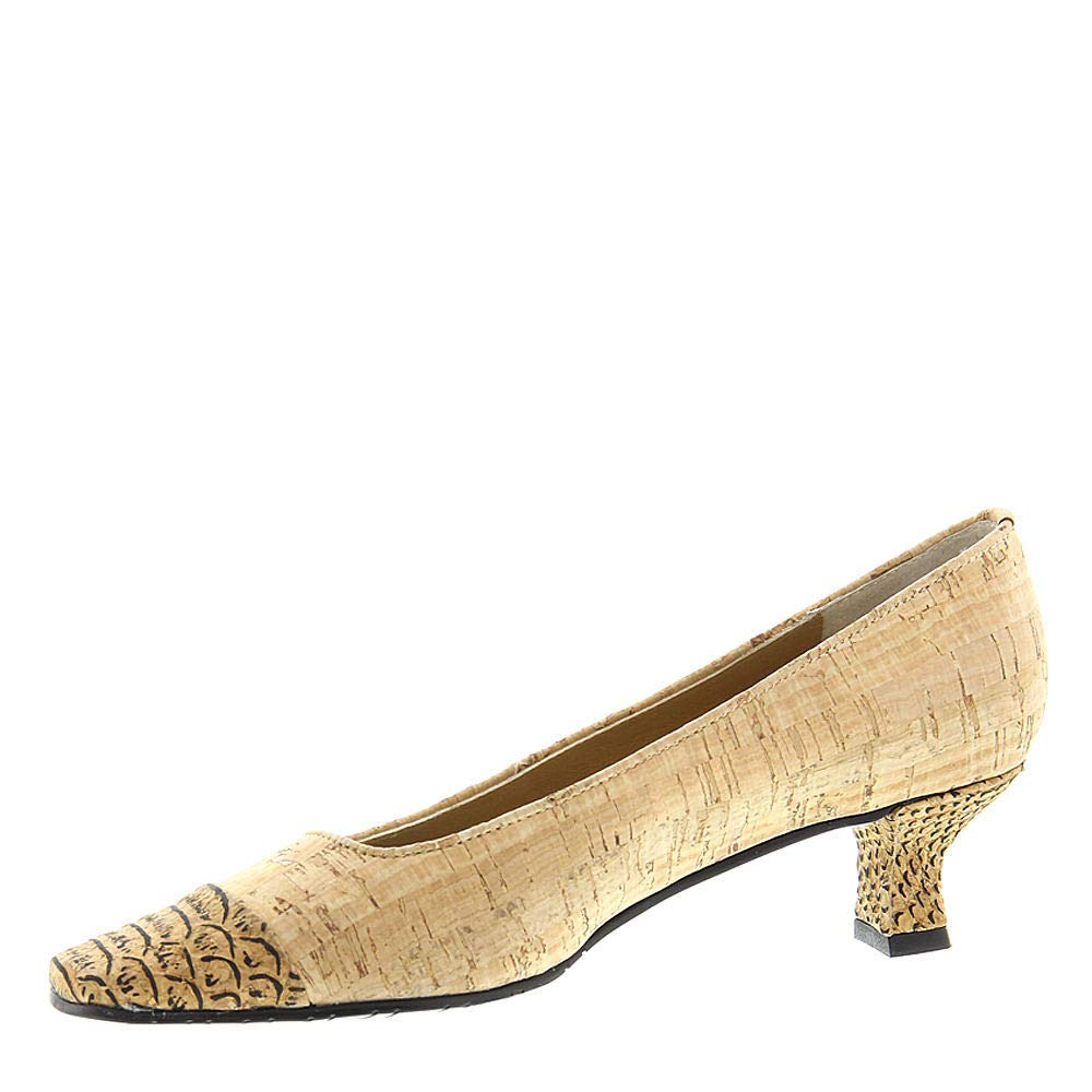 Size 7.0 Tan VANELi Womens Rickie Leather Square Toe Classic Pumps