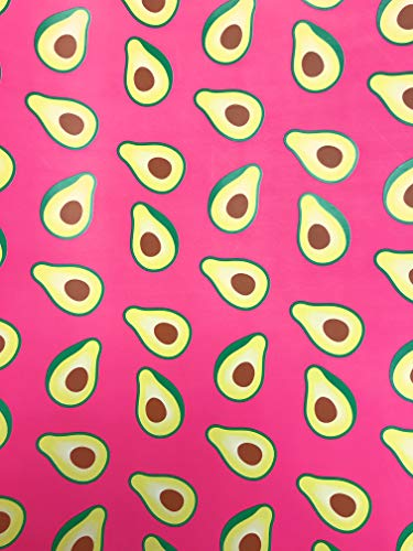 Vibrant Avocado Halves on Hot Pink Gift Present Wrapping Paper 2.5' x 12' (Best Presents For Foodies)