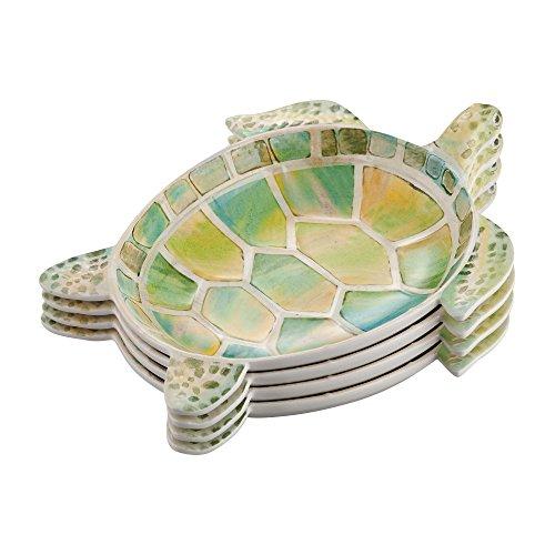Gourmet Art 4-Piece Turtle Melamine 7 1/2-inch Plate