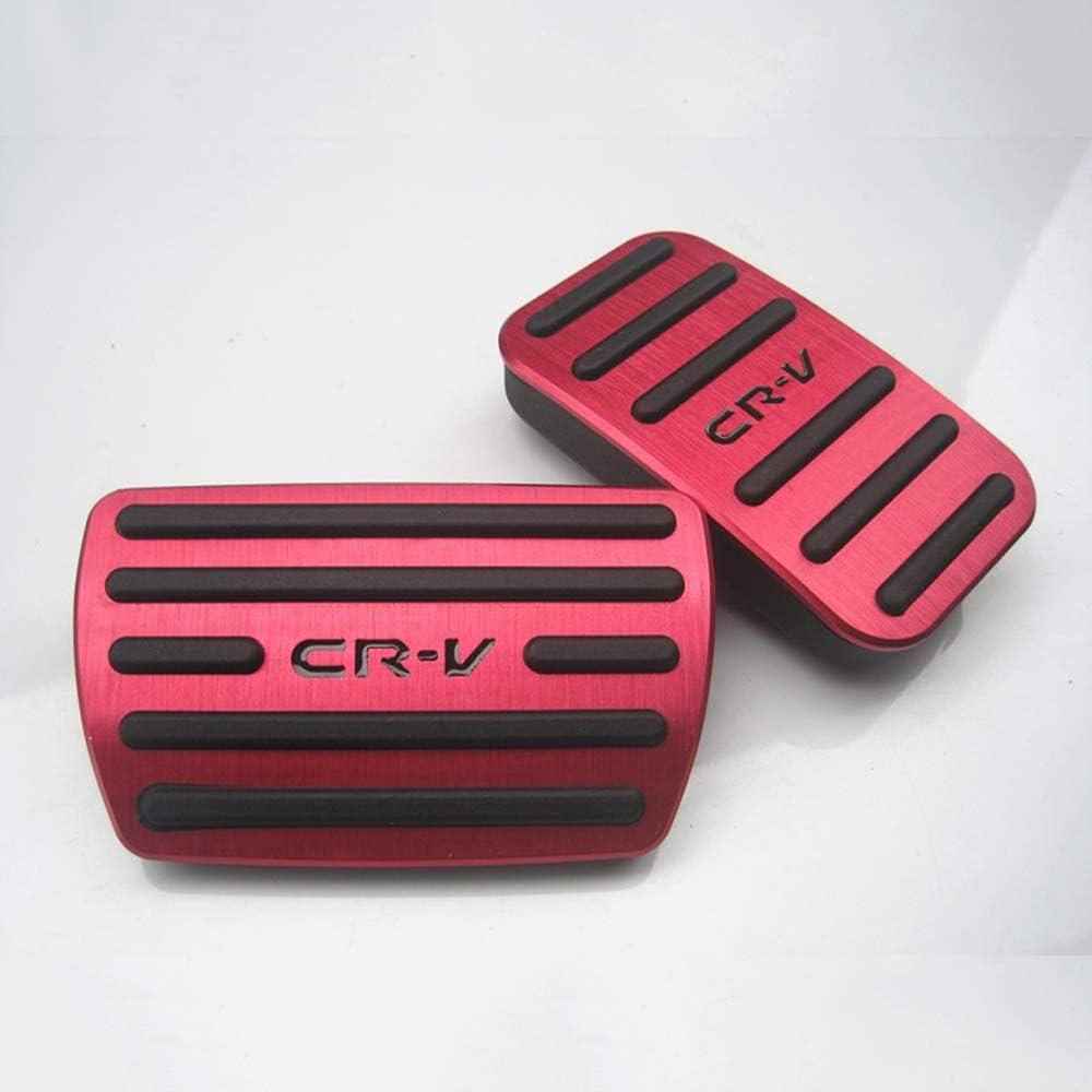 BLACK XITER No Drill Anti-Slip Aluminum Gas Brake Pedal Cover Foot Pedal Pads kit For Honda CR-V CRV 2017 2018 2019 2020