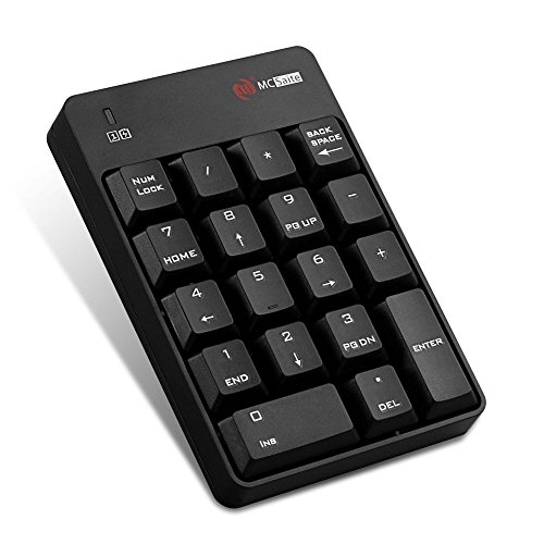 Numeric Keypad, LCstream 18 Keys Wireless USB Number Pad with 2.4G USB Receiver for iMac Macbook Windows Laptop Notebook Desktop PC Computer (Black) by LCStream (Image #2)