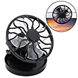 Ecosin Capped Fan Portable Clip On Solar Cell Fan Sun Power Energy Panel Cooling Summer Cooler