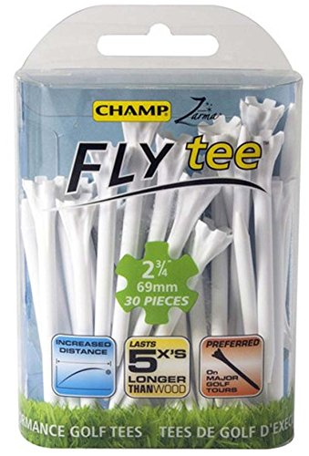 Champ Zarma Fly Golf Tees 40 Count White by AMAGolf
