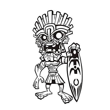 ZOUJIE Etiqueta de la Pared Extraño Hombre Tribal Hawaiano ...