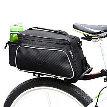 Bicycle Bike Handlebar Bag Waterproof Cycling Bag Black Large Capacity 12L