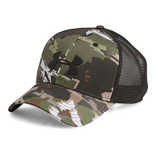 Under Armour Men's Camo Mesh 2.0 Cap, Ridge Reaper Camo Fo/Black, One (Camo Mesh Hat)