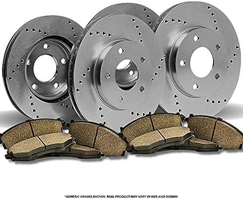 2006 Mercedes Benz C230 w//Sport Pkg OE Replacement Rotors w//Ceramic Pads F+R