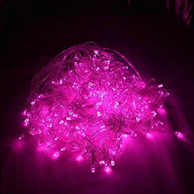 FefeLightup PINK Led Night Lights 9.8ft9.8ft 304 LEDs Lights Curtain Lights