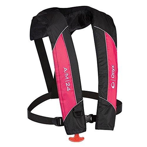 Onyx Outdoors A/M-24 Auto/Manual Life Jacket, Pink