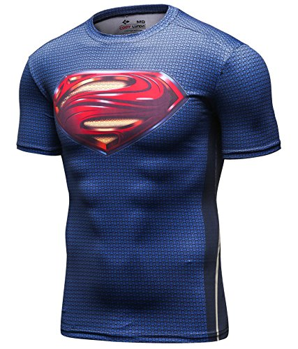 Red Plume Men's Compression Sport Tight Perspiration Training T Shirt S Logo (M, - Training In Ironman Shirt