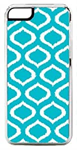 iPhone 5c Case, Ikat anti-oxidant Turquoise Clear Case for iPhone 5c [Flex Series] [5c V3 bodys Clear learned Case]